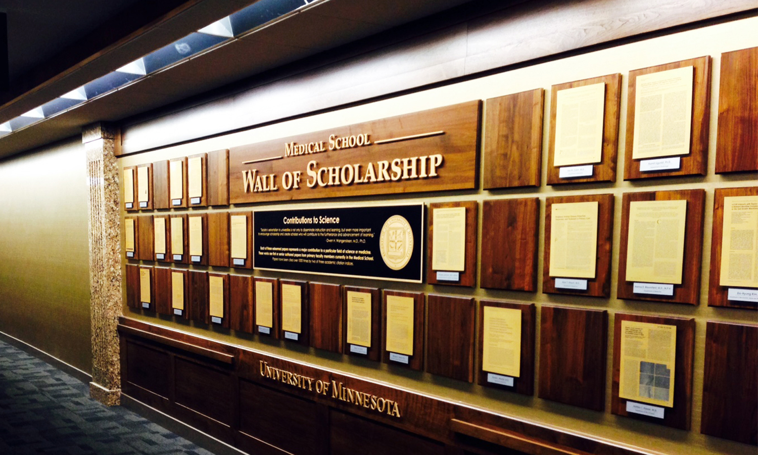 Wall of Scholarship