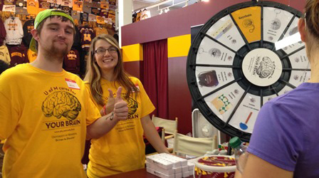 Clinical Neurosciences at the State Fair prize wheel